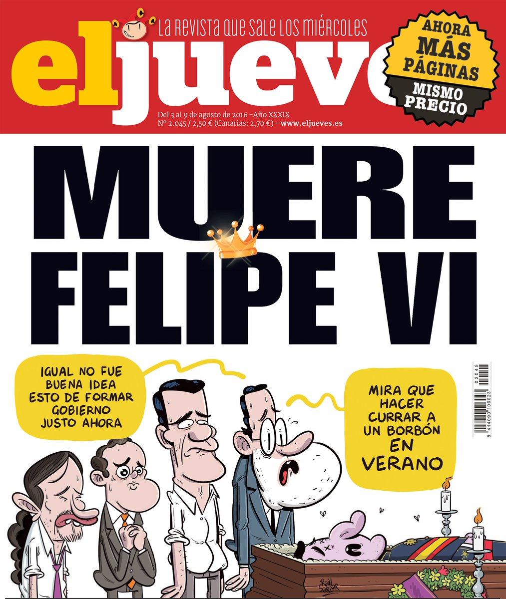 Portada El Jueves. Muere Felipe VI